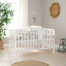 Tutti Bambini Malmo Cot Bed Bundle Including Cot Top Changer & Mattress-White
