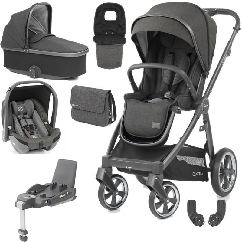 BabyStyle Oyster 3 City Grey Finish Luxury Travel System-Pepper