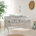 Tutti Bambini Malmo Cot Bed Bundle Including Cot Top Changer & Mattress-Dove Grey