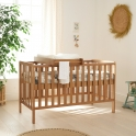 Tutti Bambini Malmo Cot Bed Bundle Including Cot Top Changer & Mattress-Oak
