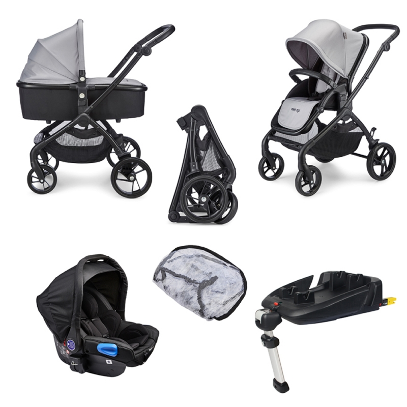 Mee-Go Plumo Travel System-Ash Grey