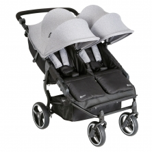 My Child Easy Twin Double Stroller-Grey (NEW)