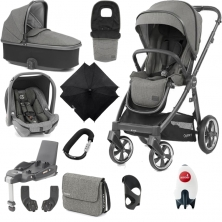 BabyStyle Oyster 3 City Grey Finish Ultimate Capsule Travel System-Mercury