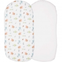Chicco 2 Pack Baby Hug Fitted Crib Sheets-Little Animals (NEW)