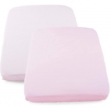 Chicco Set of 2 Next2Me Crib Fitted Sheets-Pink Pois (NEW)