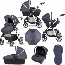Silver Cross Pioneer 10 Piece Bundle-Midnight