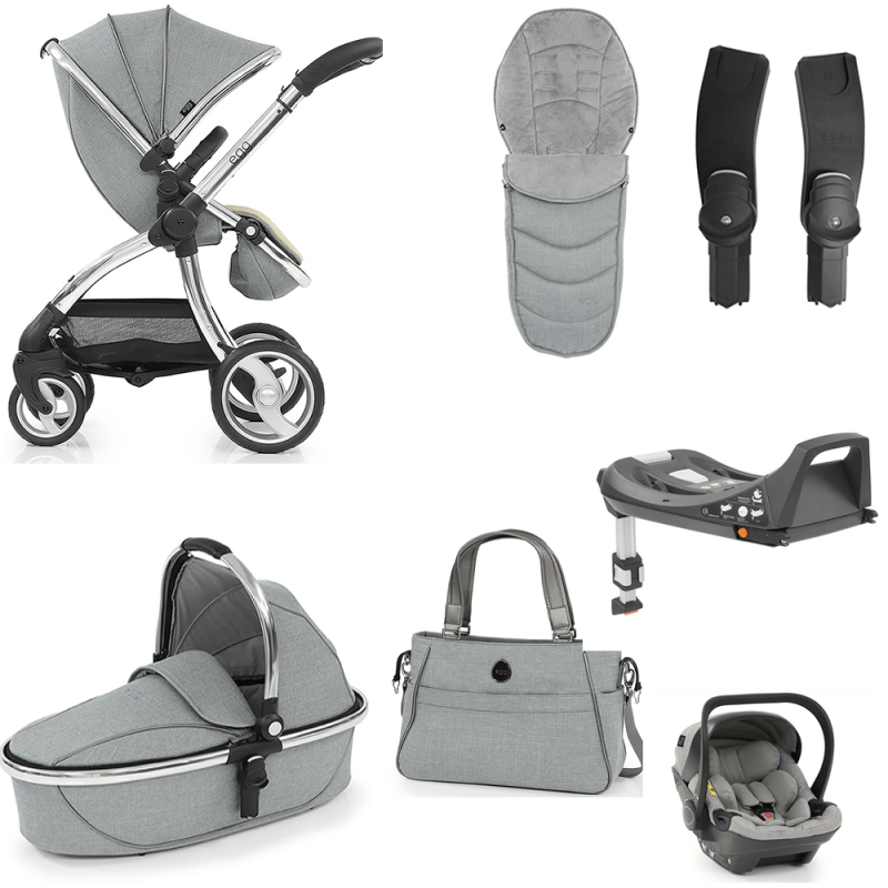 Egg Luxury 3in1 Shell Travel System With ISOFIX Base Platinum (NEW)