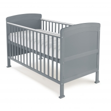 Kiddies Kingdom Penelope Cot Bed-Grey Including Foam Mattress Worth £40!