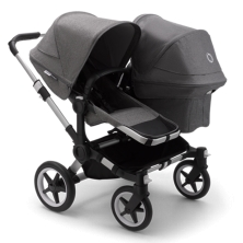Bugaboo Donkey 3 Duo Pushchair-Aluminium/Grey Melange