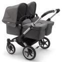 Bugaboo Donkey 3 Twin Pushchair-Aluminium/Grey Melange