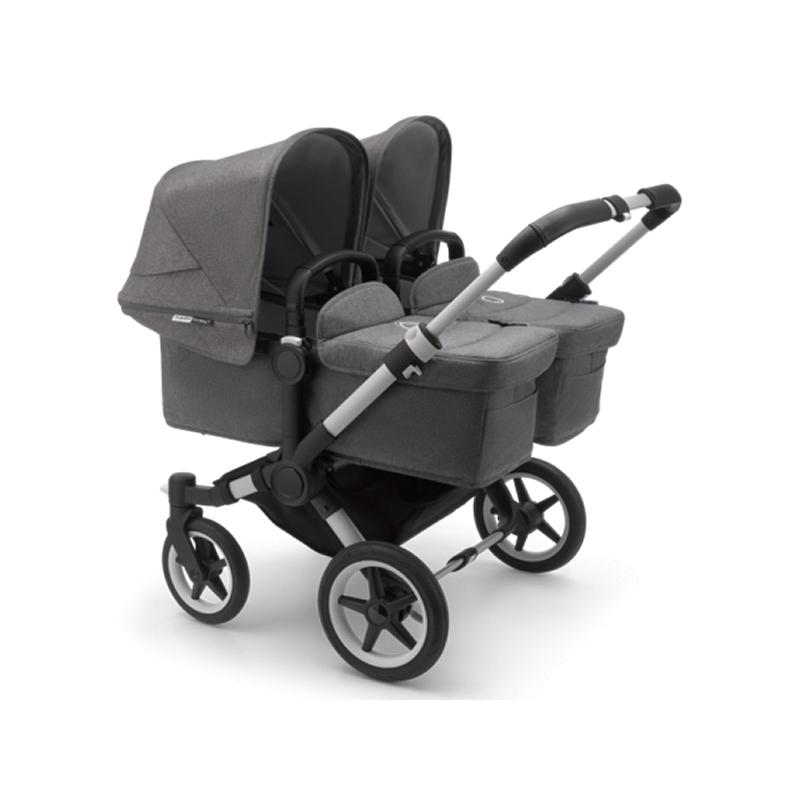 Bugaboo Donkey3 Twin Pushchair-Grey Melange/Aluminium