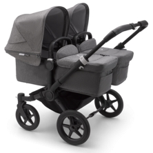Bugaboo Donkey 3 Twin Pushchair-Black/Grey Melange