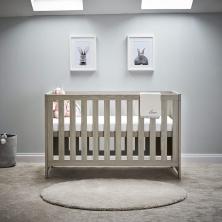 OBaby Nika Cot Bed-Grey Wash