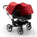 Bugaboo Donkey 3 Duo Pushchair-Aluminium/Black-Red
