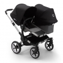 Bugaboo Donkey 3 Duo Pushchair-Aluminium/Grey Melange-Black