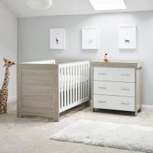 Obaby Nika 2 Piece Room Set-Grey Wash & White (NEW)