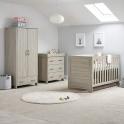 OBaby Nika 3 Piece Room Set-Grey Wash