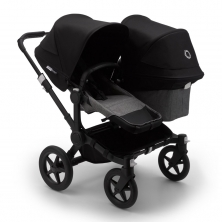 Bugaboo Donkey 3 Duo Pushchair-Black/Grey Melange-Black