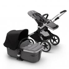 Bugaboo Fox2 Complete Pushchair-Aluminium/Grey Melange-Black