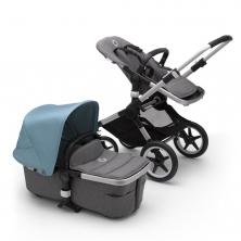 Bugaboo Fox2 Complete Pushchair-Aluminium/Grey Melange-Vapour Blue