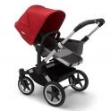 Bugaboo Donkey 3 Mono Pushchair-Grey Melange/Aluminium-Red