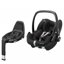 Maxi Cosi Pebble Pro Group 0+ Car Seat With FamilyFix3 Base-Essential Black