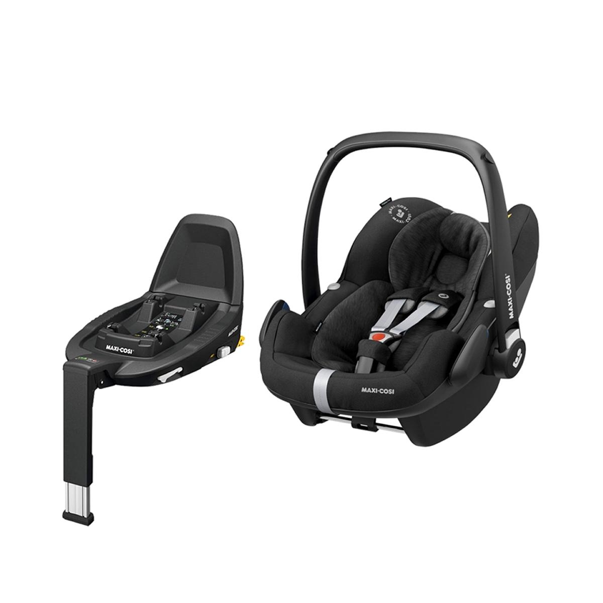 Maxi Cosi Pebble Pro Group 0+ Car Seat With FamilyFix3 Base Essential Black