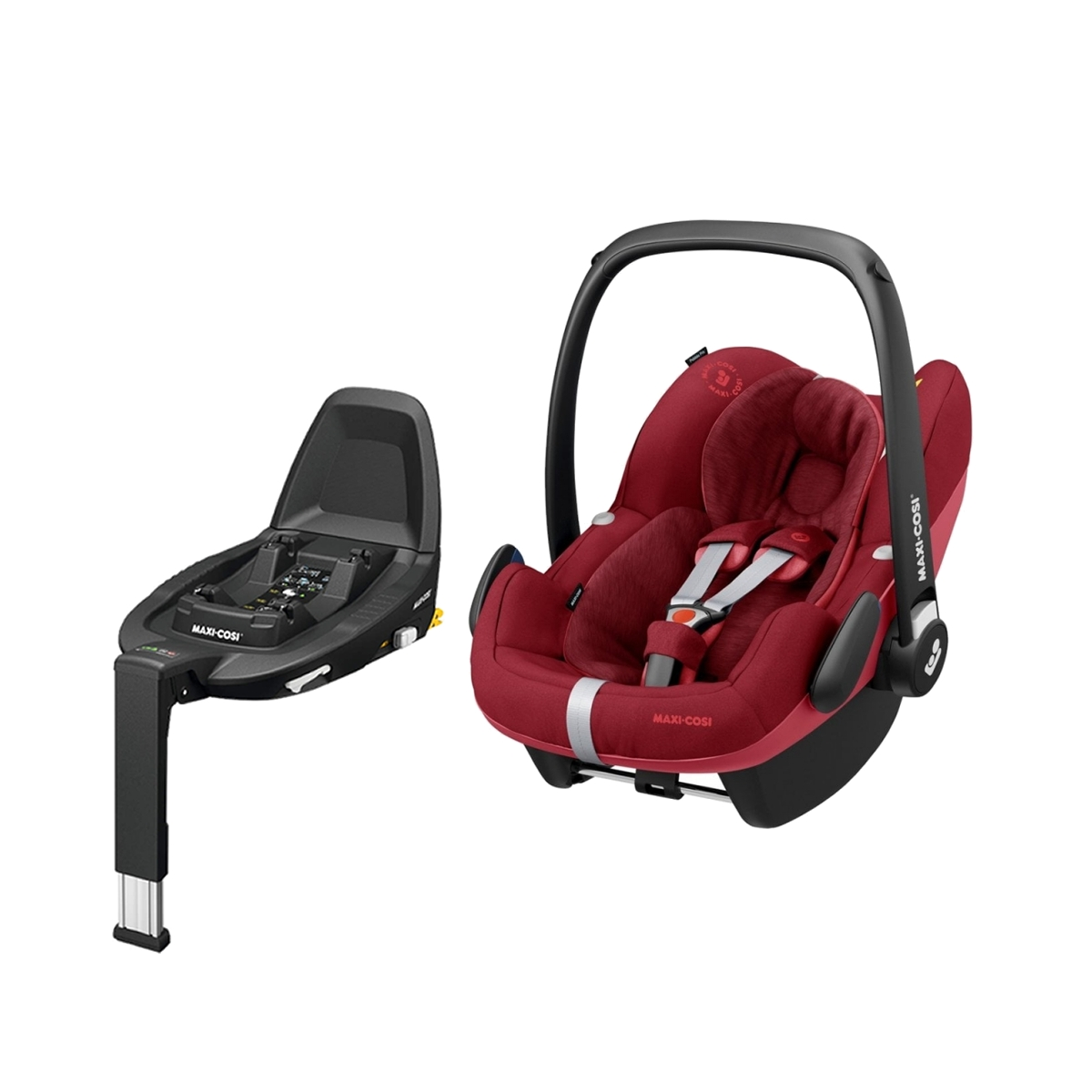 Maxi Cosi Pebble Pro Group 0+ Car Seat With FamilyFix3 Base-Essential Red