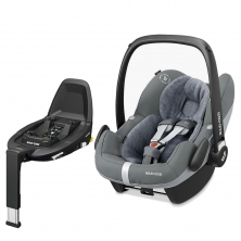 Maxi Cosi Pebble Pro Group 0+ Car Seat With FamilyFix3 Base-Essential Grey