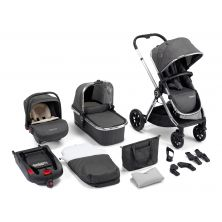 Babymore MeMore 13pc Bundle Travel System–Chrome Slate
