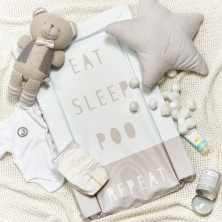 Obaby Eat Sleep Repeat Changing Mat-Grey