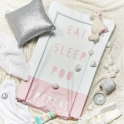 Obaby Eat Sleep Repeat Changing Mat-Pink (NEW)