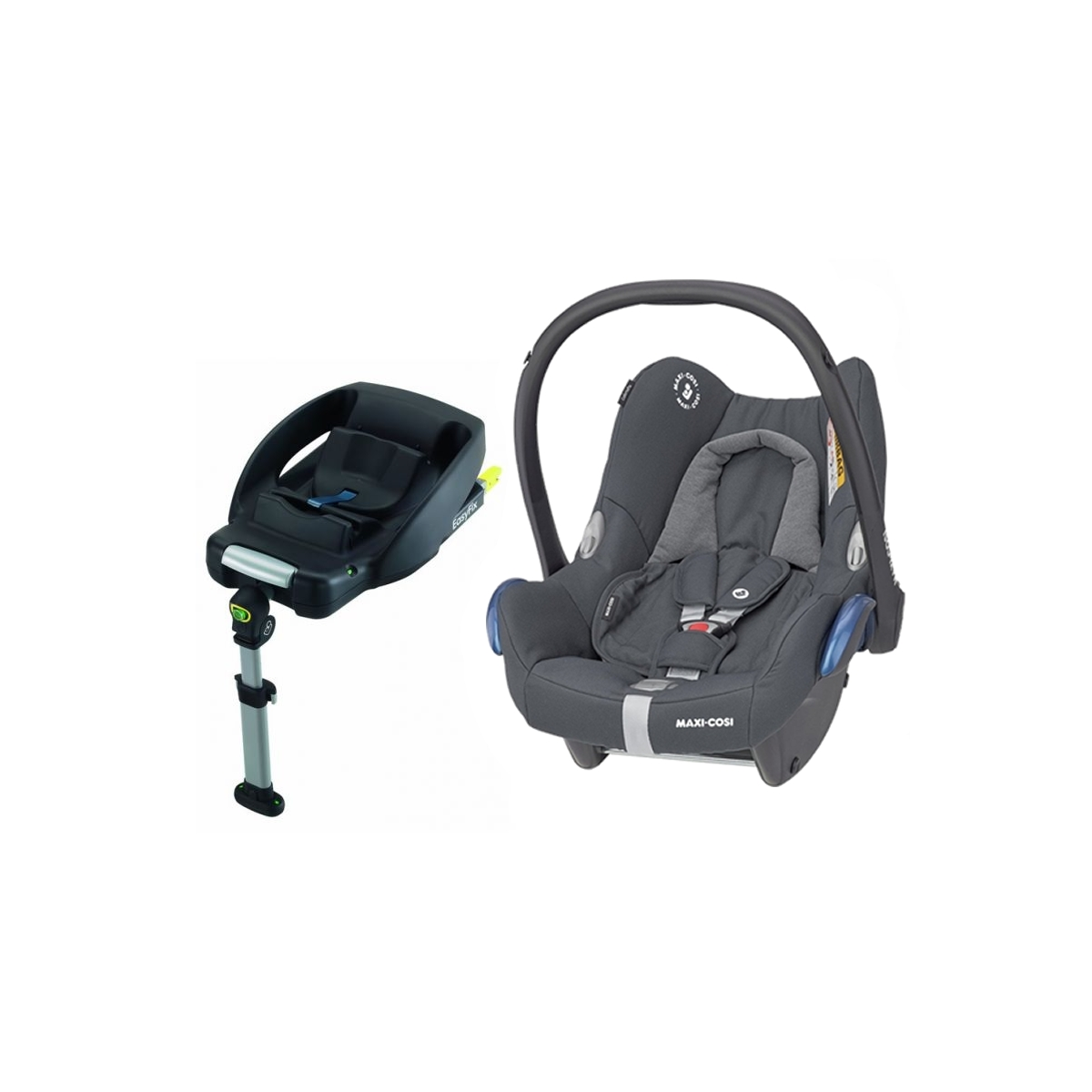Maxi Cosi Cabriofix Group 0+ Car Seat With Easyfix Base-Essential Graphite (NEW 2020)