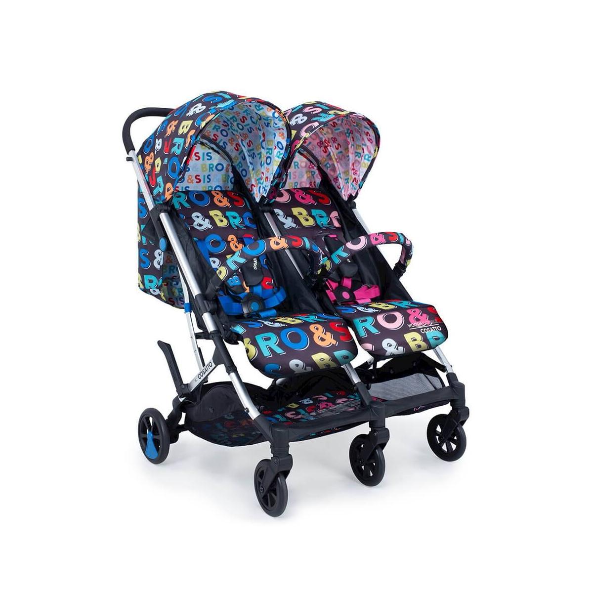 Cosatto Woosh Double Stroller-Sis & Bro (NEW)