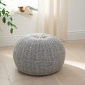 Tutti Bambini Knitted Pouffe Footstool-Pebble/Grey