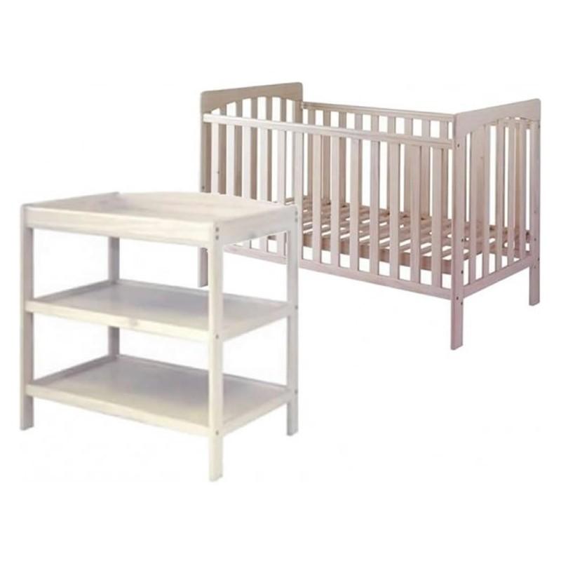 KUB Eco 2 Piece Furniture Roomset FSC-White + Free Foam Mattress