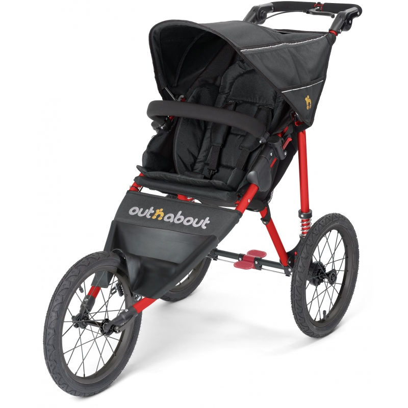 Out n About Nipper Sport-Black Raven with Red Frame