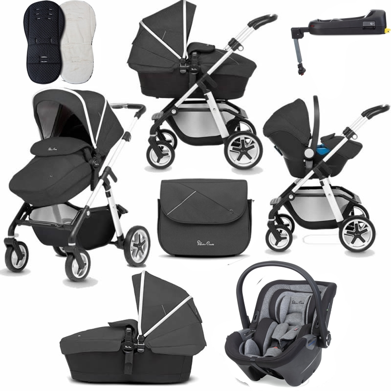 Silver Cross Pioneer Luxury Bundle-Onyx