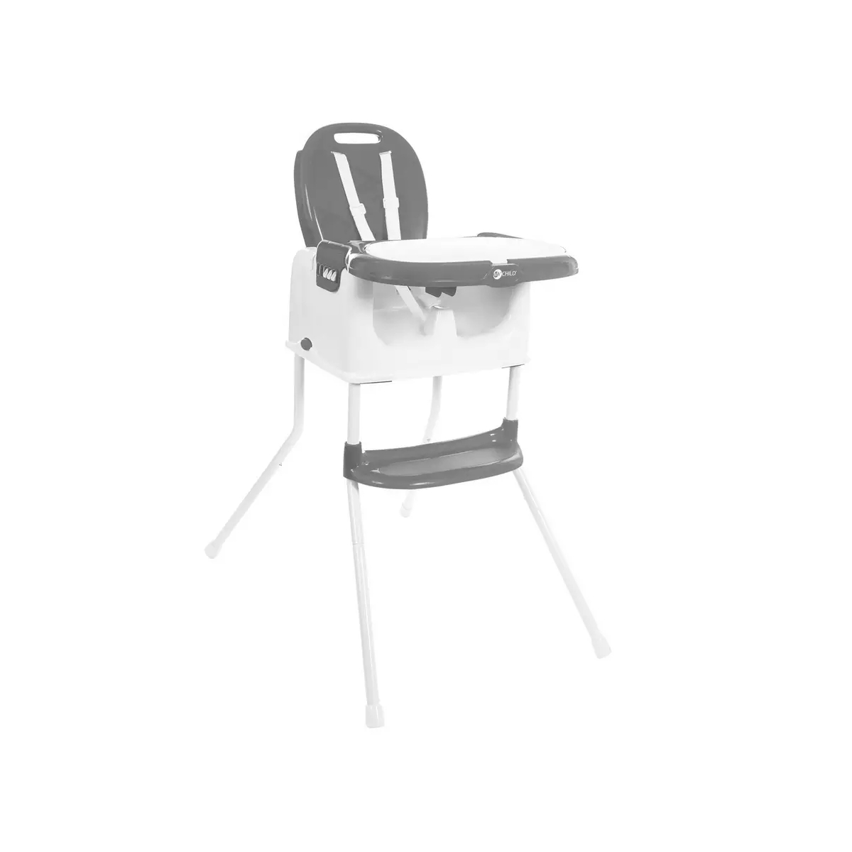 My Child Graze 3in1 Highchair, Booster & Stool-Grey