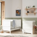 Tutti Bambini Rio 2 Piece Room Set with Cot Top Changer-White