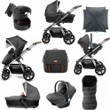 Silver Cross Wave 9 Piece Bundle + FREE Isofix Base-Granite (2019)