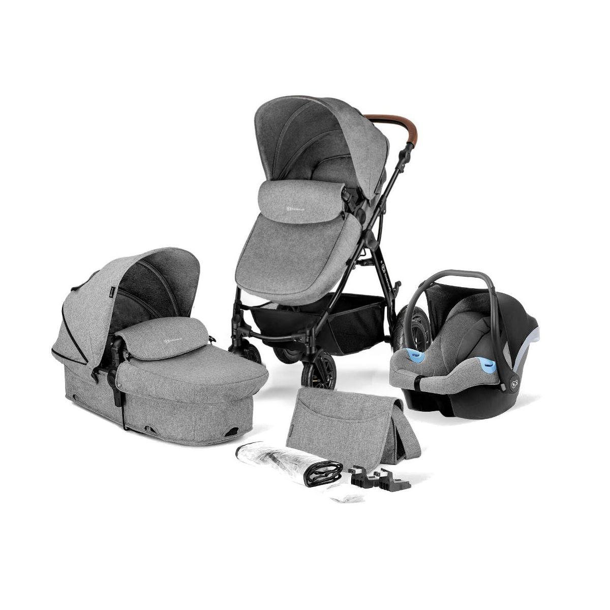 Kinderkraft Moov 3in1 Travel System-Grey Melange