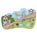 Oribel VertiPlay Wooden Wall Toys -Jack & Jill
