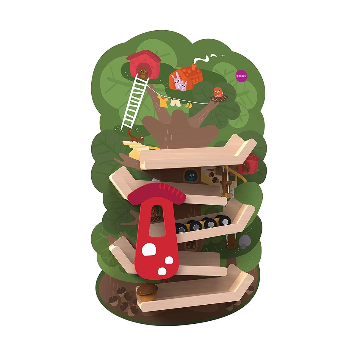 Oribel VertiPlay Wooden Wall Toys Tree Top Adventure