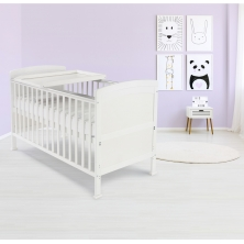 Kiddies Kingdom Penelope Cot Bed-White Including Foam Mattress Worth £40!