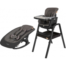 Tutti Bambini 2in1 Nova Highchair/Rocker Bundle-Black