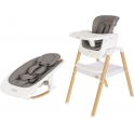 Tutti Bambini 2in1 Nova Highchair Bundle-Oak/White