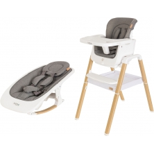 Tutti Bambini 2in1 Nova Highchair/Rocker Bundle-Oak/White