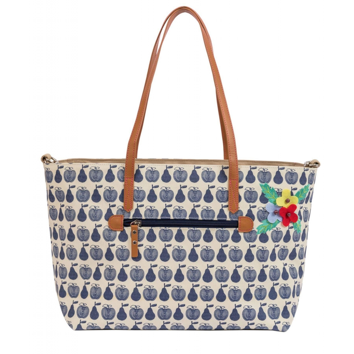 Pink Lining Notting Hill Tote Bundle-Apples & Pears Navy