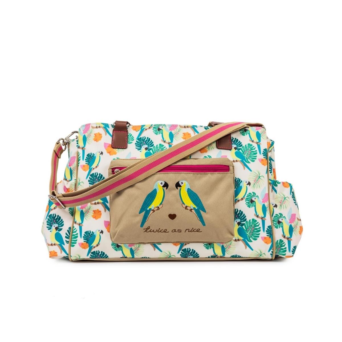 Pink Lining Twice As Nice Twin Bag Bundle-Parrot Cream